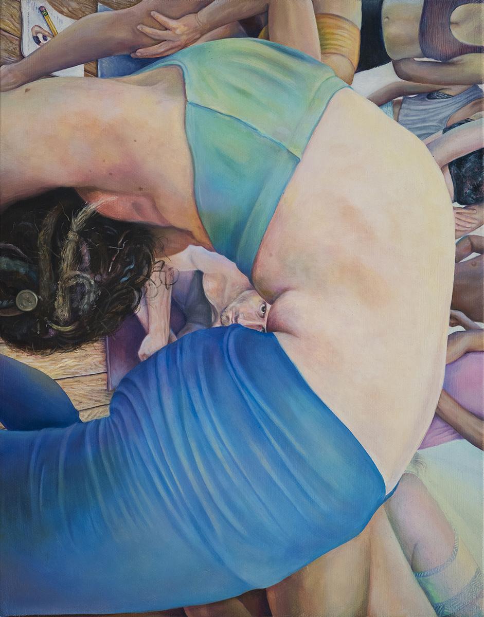 Fiona's Wheel,  Oil on canvas, 2017