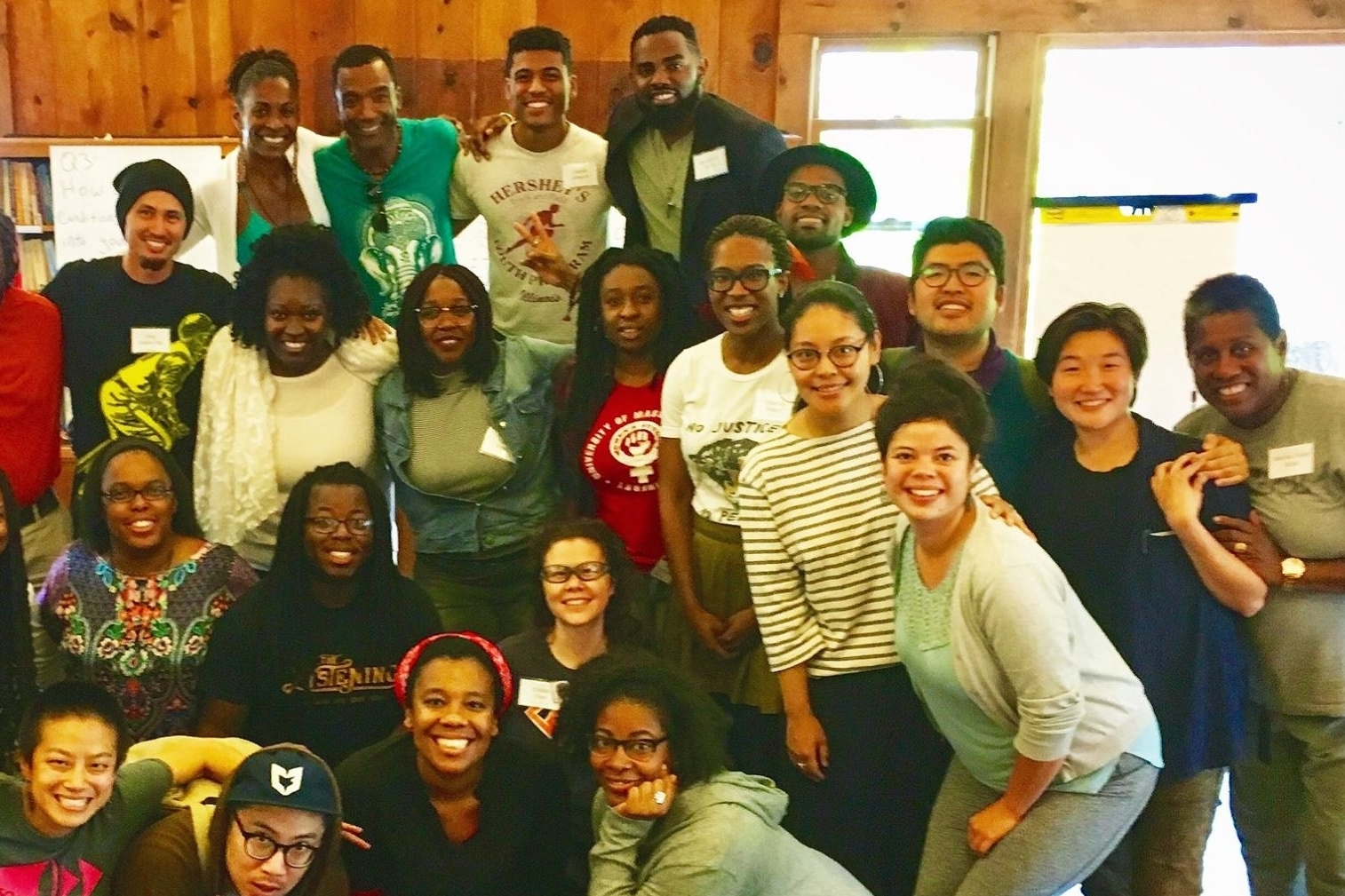 Participants of color at the 2017 Formation Gathering sponsored by the how we gather team .