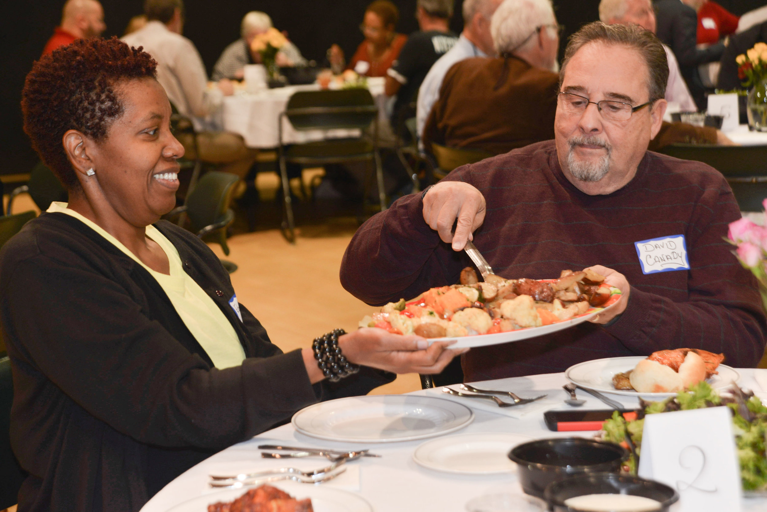 Participants in a Peoples Supper at University City United Methodist Church in Charlotte, North Carolina in November 2018.