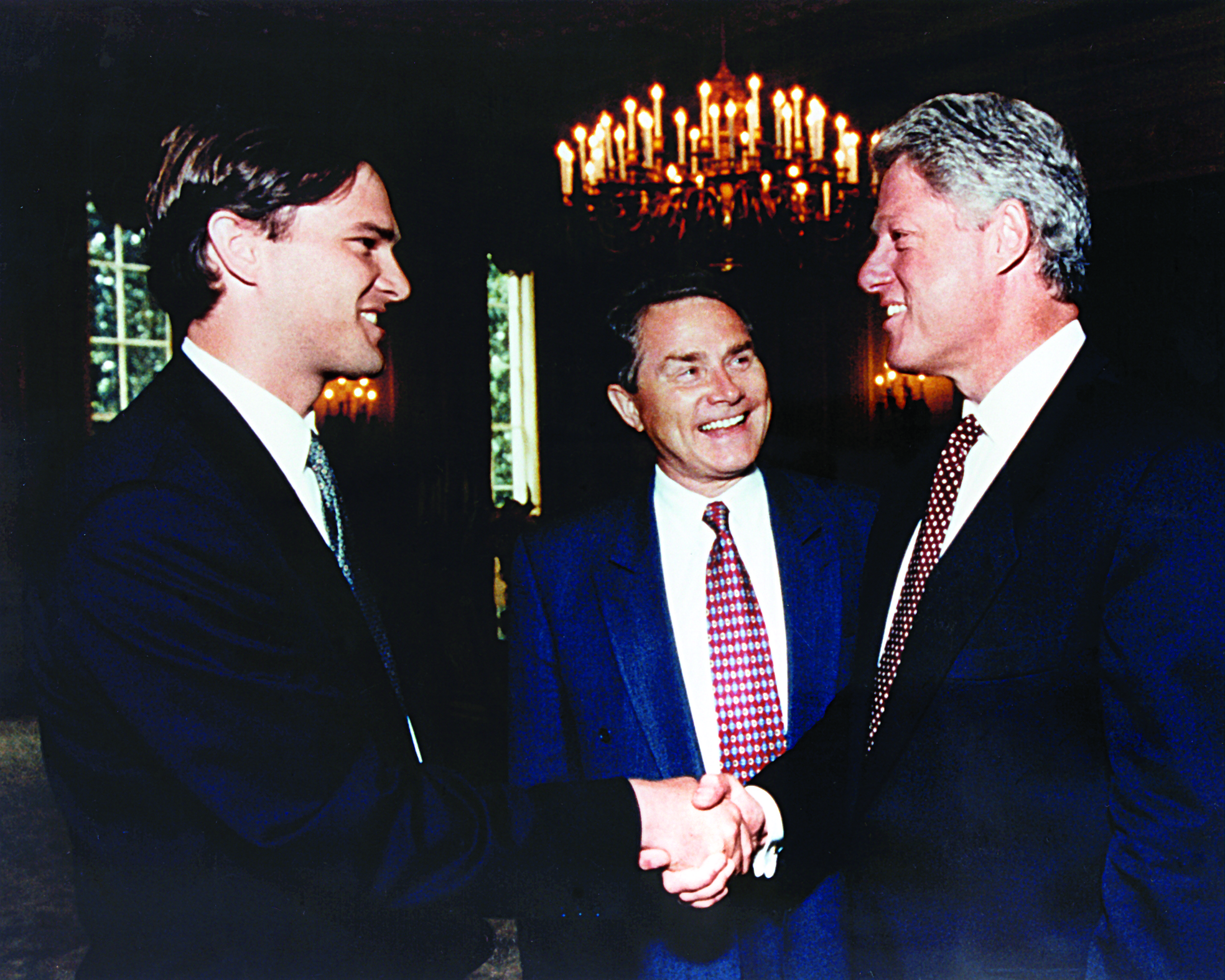 President Bill Clinton Greets Andrew Palau and Luis at the Presidential Inaugural, Washington D.C., 1997