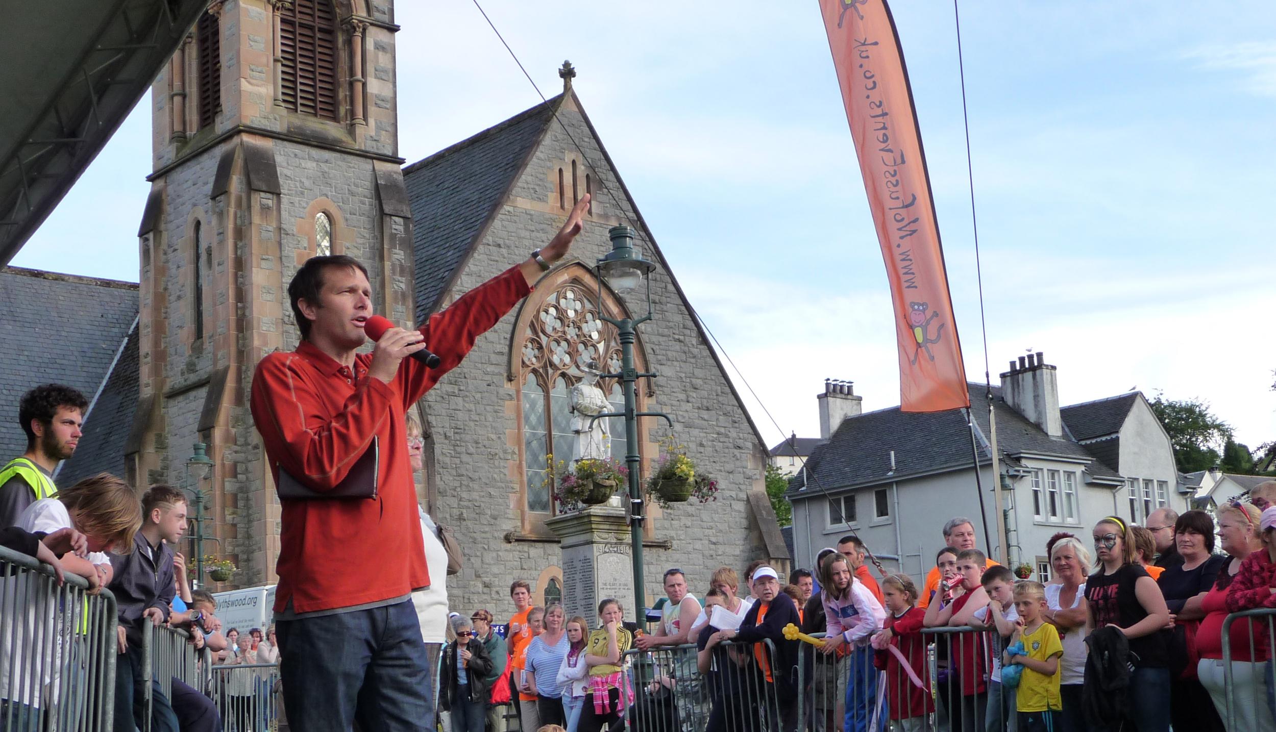 Andrew Speaking in Scotland Before the Festival, 2009