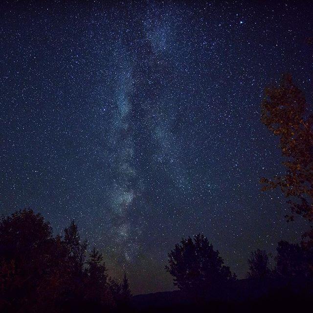 Night sky over Maine... #sky #nightsky #stars #milkyway #night #naturelovers #nature #natureshots
