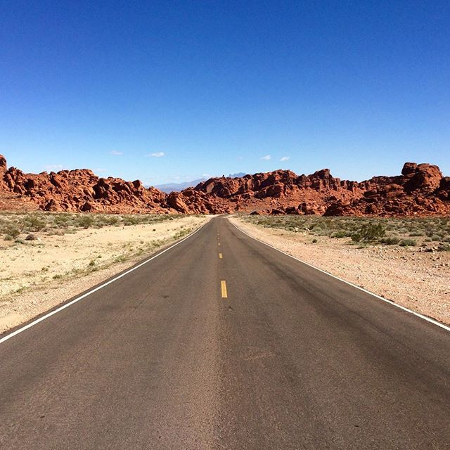 On the road... #nevada #road #driving #desert #travel #west