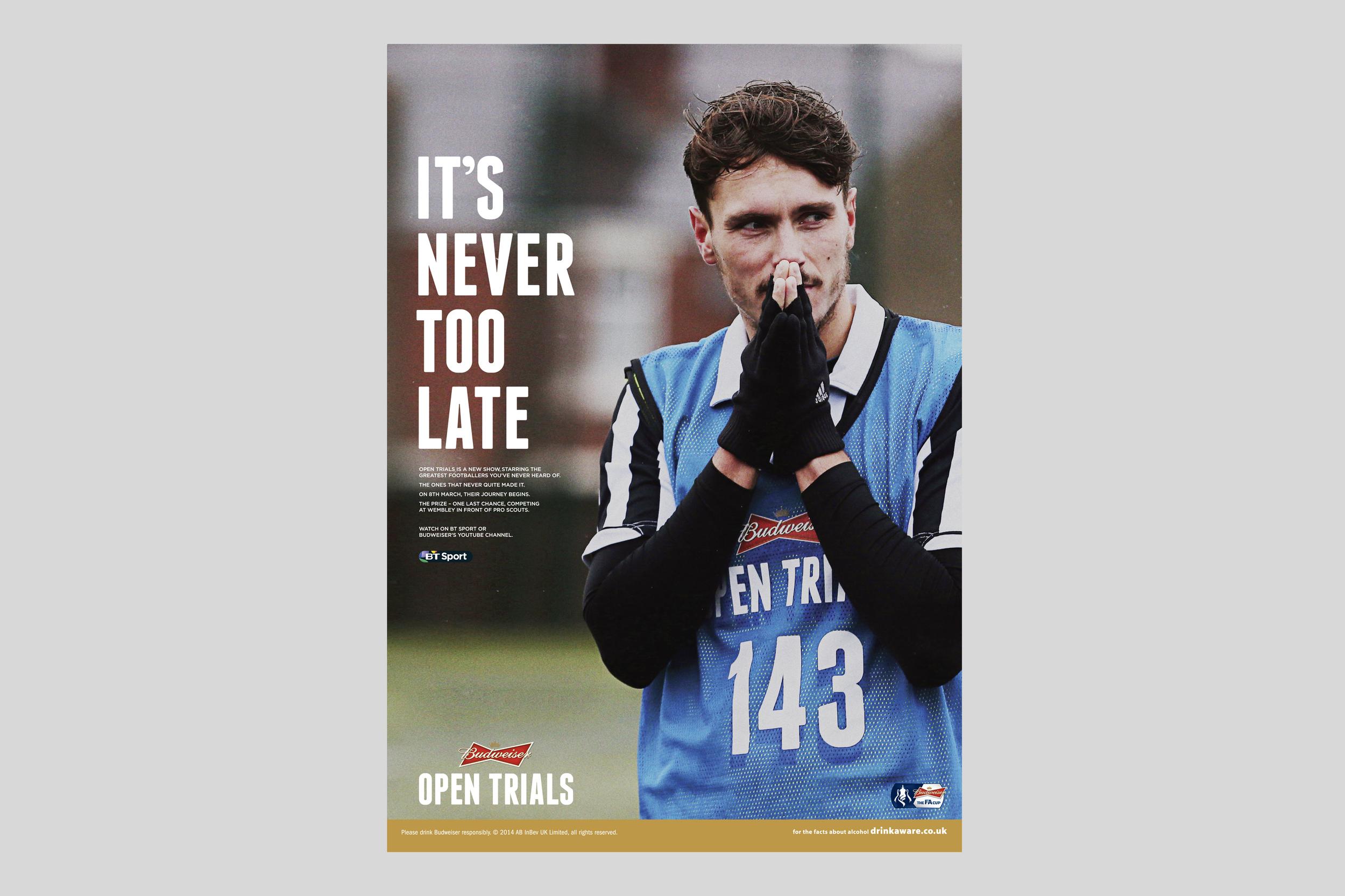Budweiser Open Trials Print