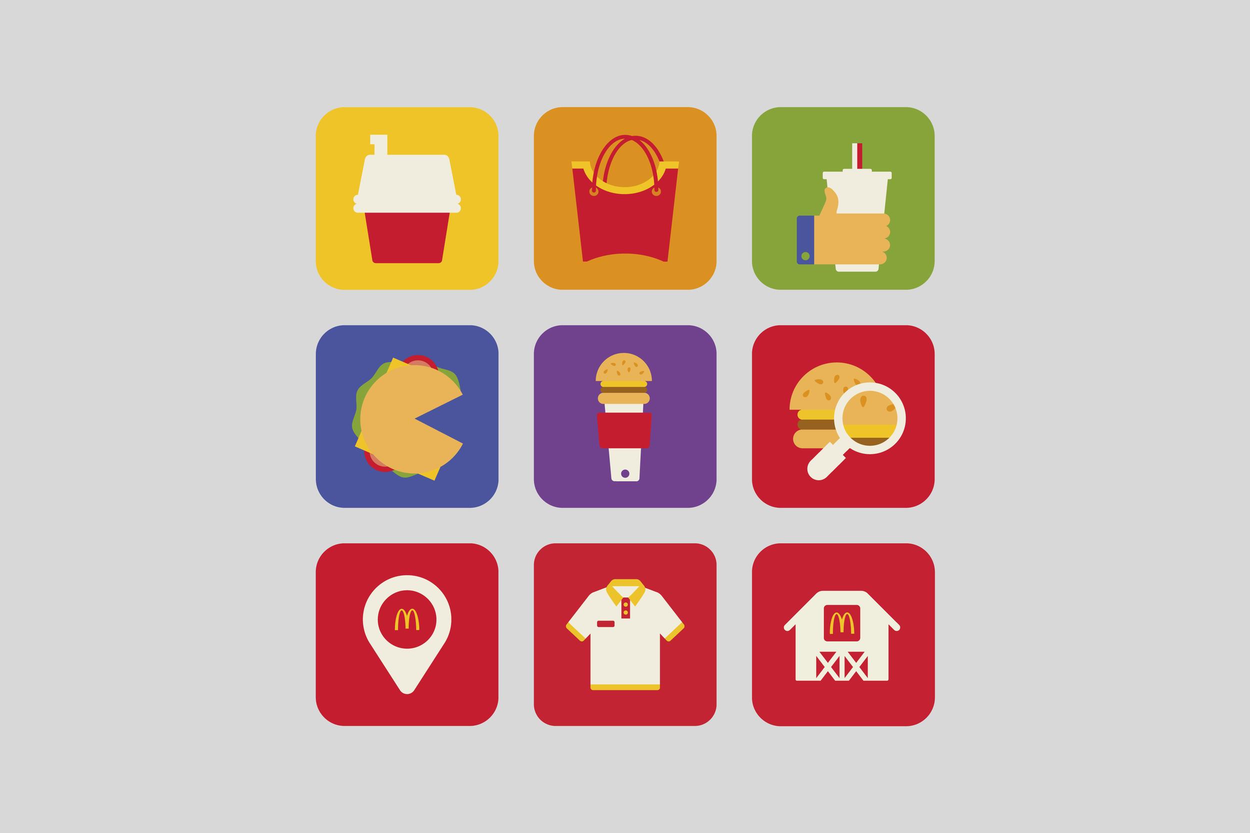 McDonald's Restaurant of the Future Icons