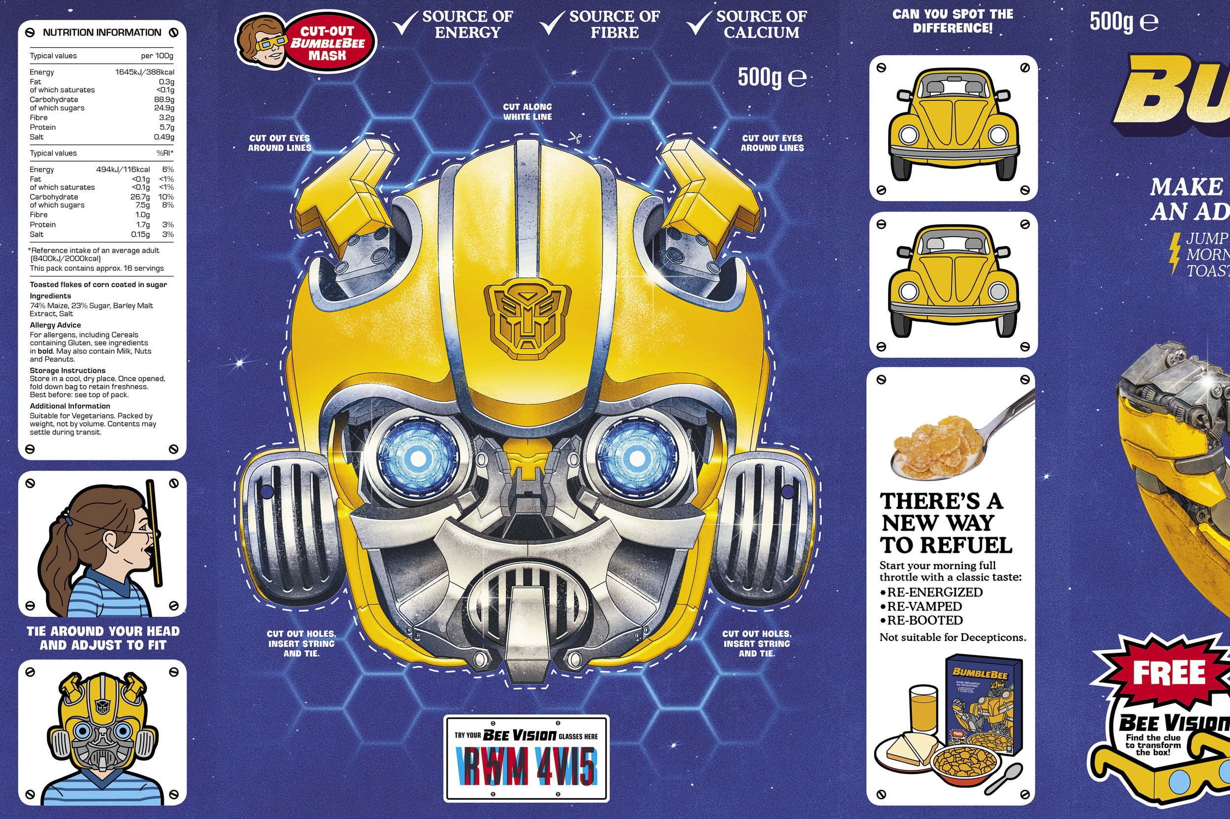 Stathi Kougianos Transformers Cereal Box