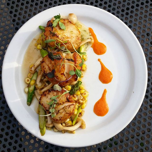 It's a time for new beginning and these scallops will get you on the right path #Scallops#windycity#chicago#asparagus#specials#WickerPark#lemon#Mushrooms#spring#mexican