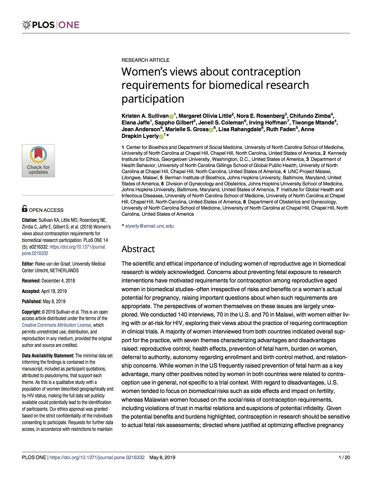 Sullivan.2019.Plos One.Women's views about contraception requirements for biomedical research participation copy.jpg