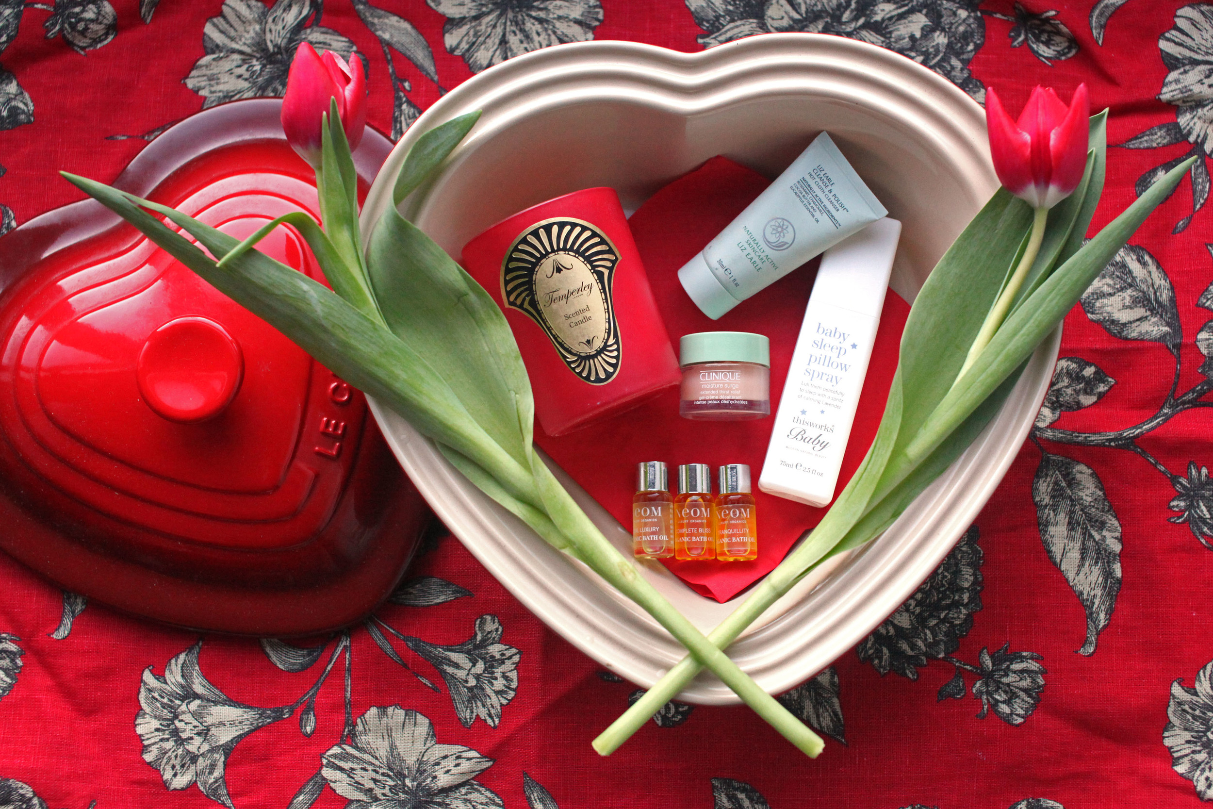 Pamper treats by Neom, Liz Earle, Alice Temperley, Clinique & This Works