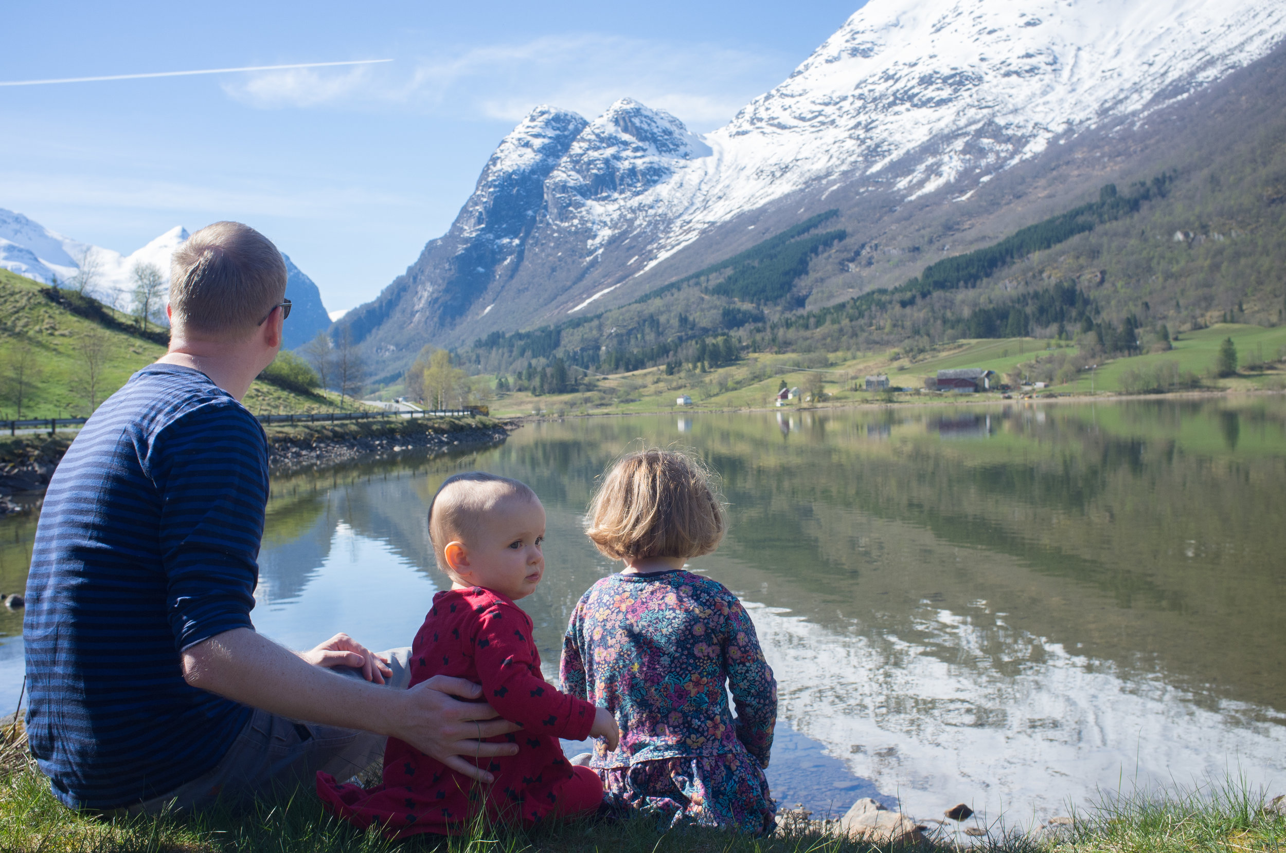 Taking in the view in Olden, Norway.