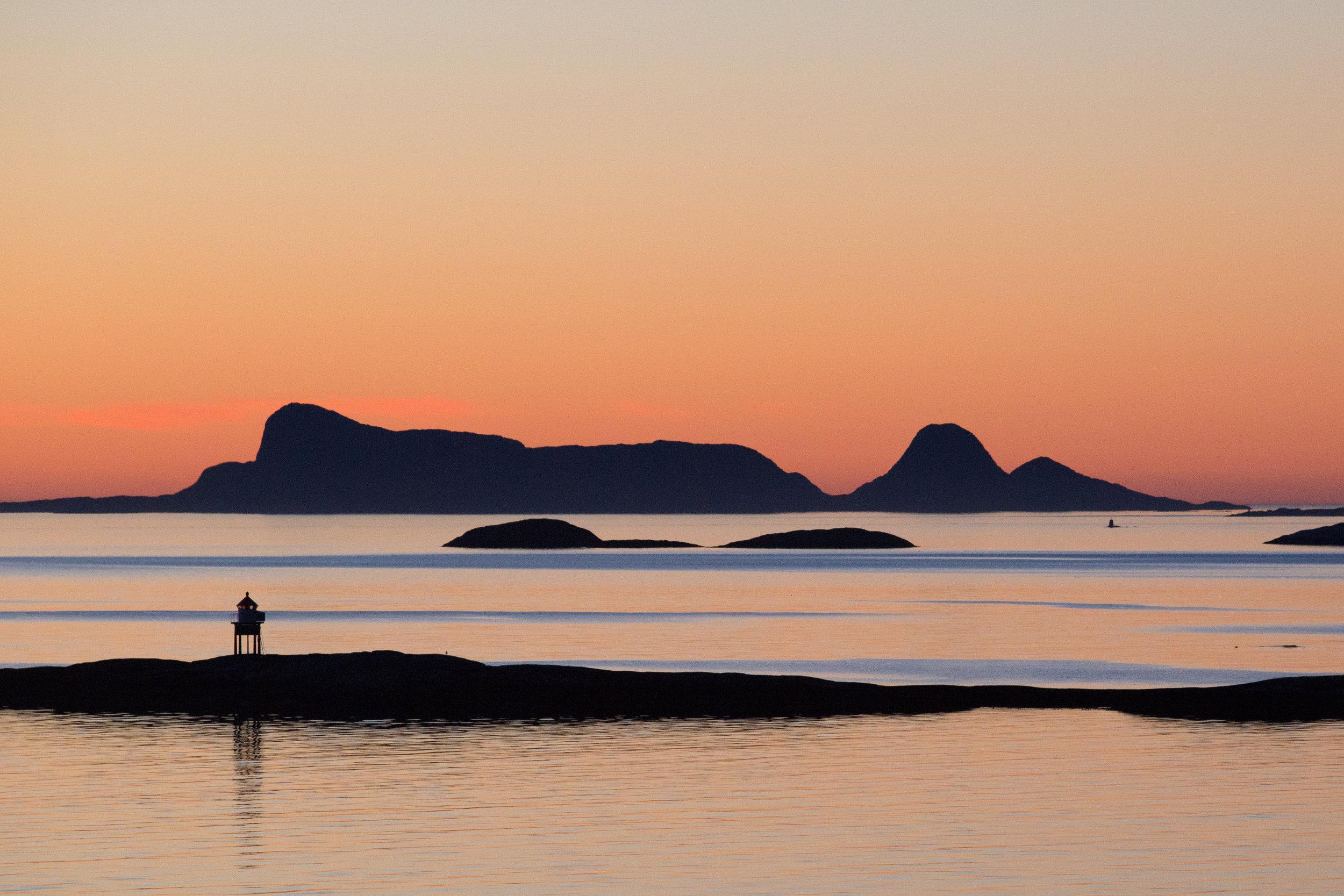 Sunset in the Norwegian Fjords