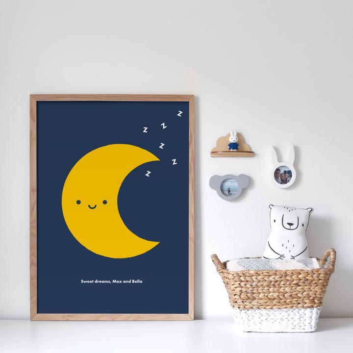 2. Sleepy Moon Personalised Print
