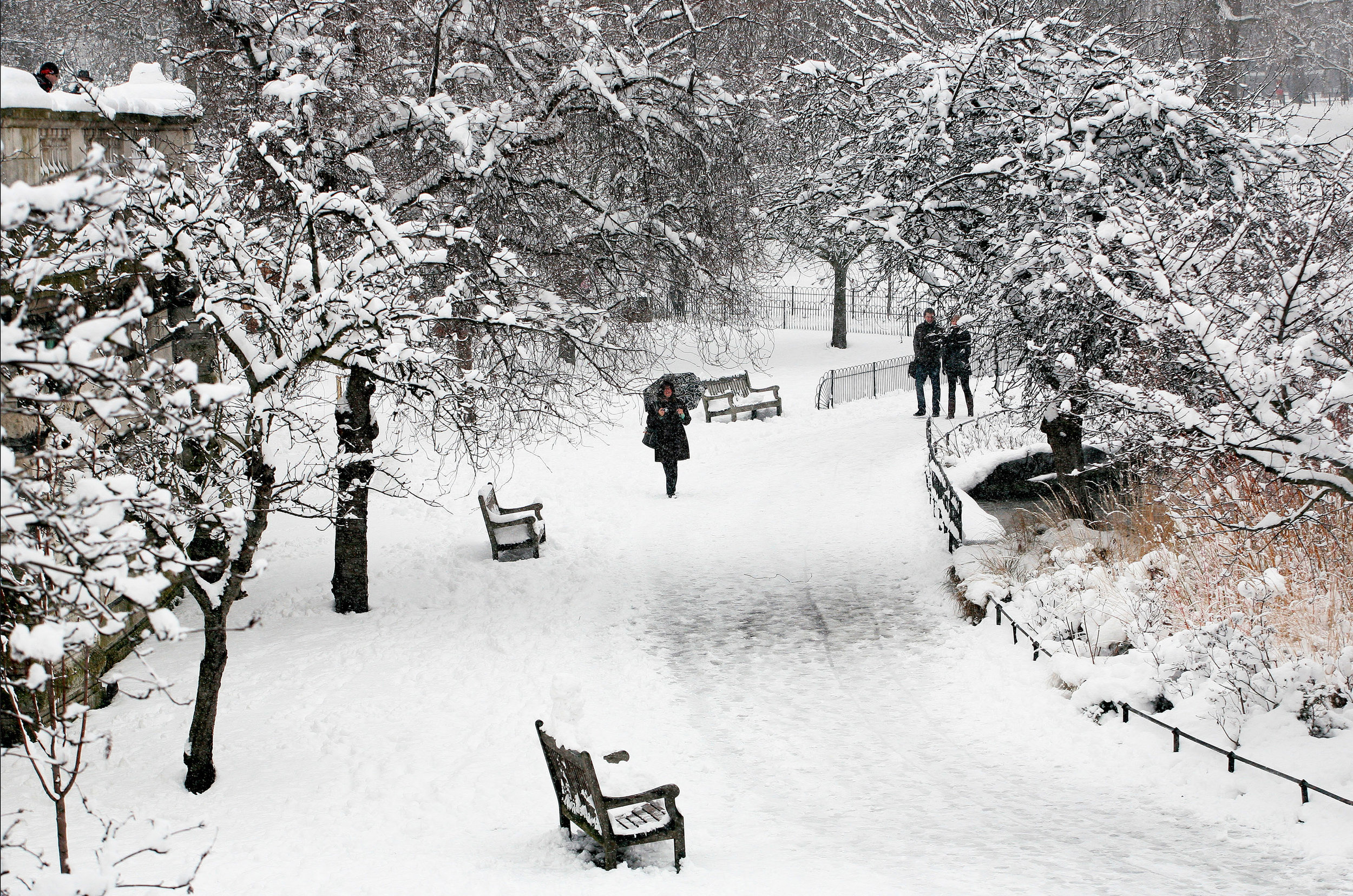 Snow in London, February 2009 - Katie Collins/Press Association