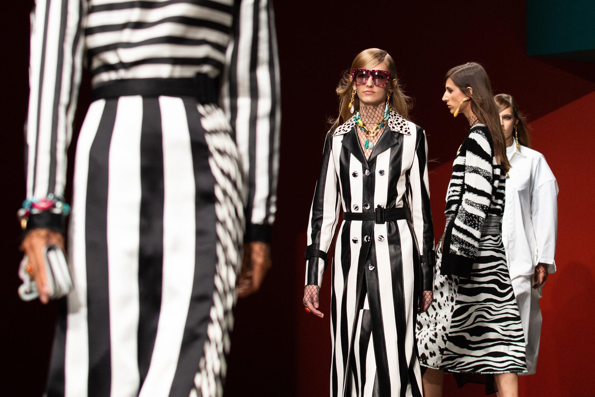 Stripes and Zebra print at the Ports 1961 catwalk show