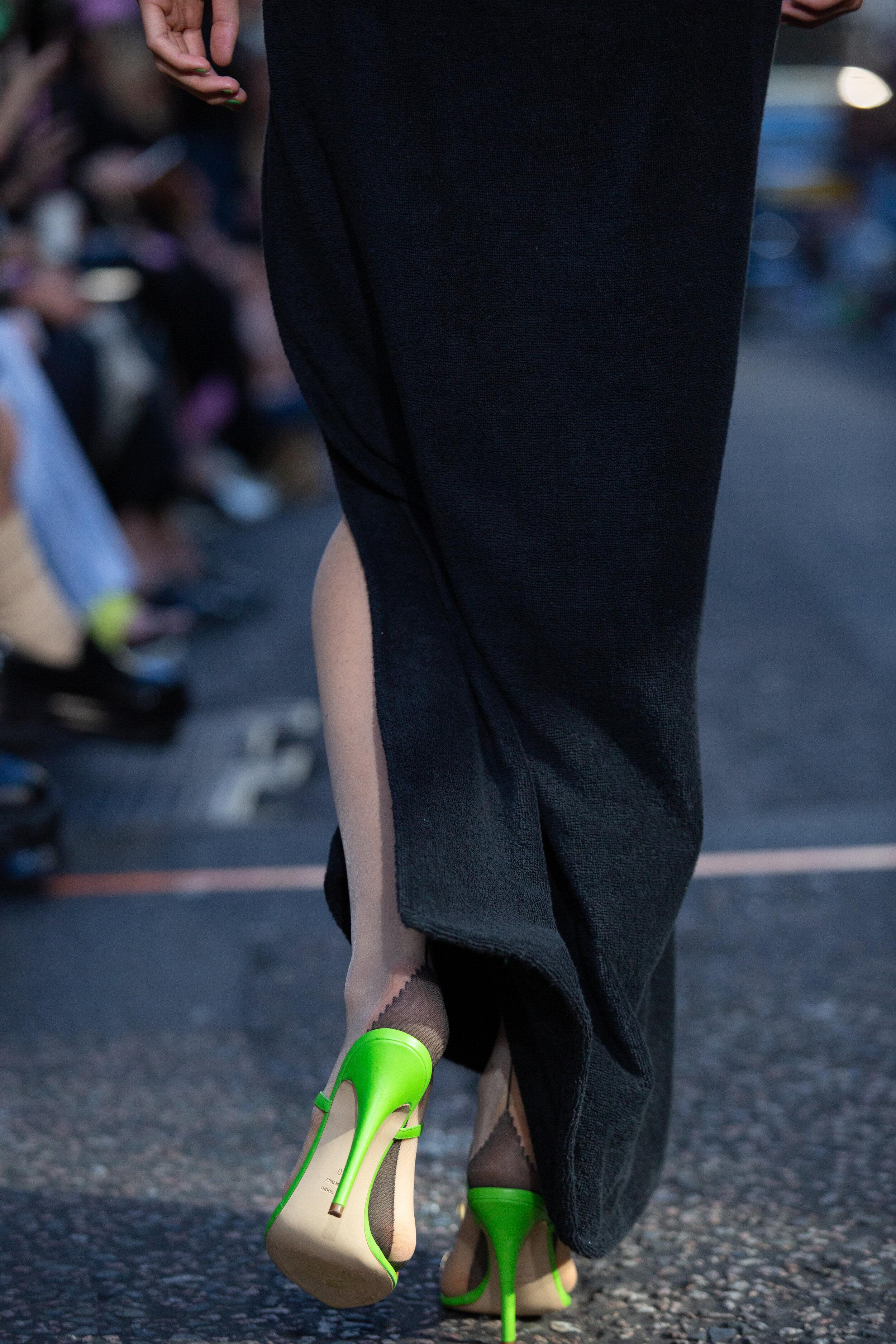 A model on the catwalk at the Natasha Zinko X DUO catwalk show