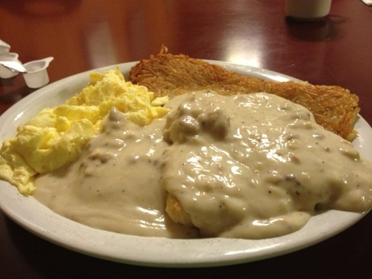 buiscuts and gravy with hash browns and eggs.jpg