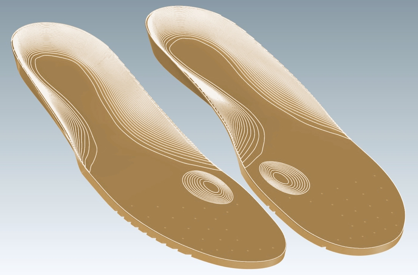 Insolia Flex Molded Into a Customer's Insole