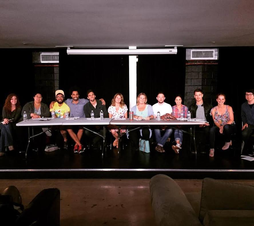 "Reading of Julie Sharbutt's pilot MOD BOMB at UCB LA in ""Let's Table This"""