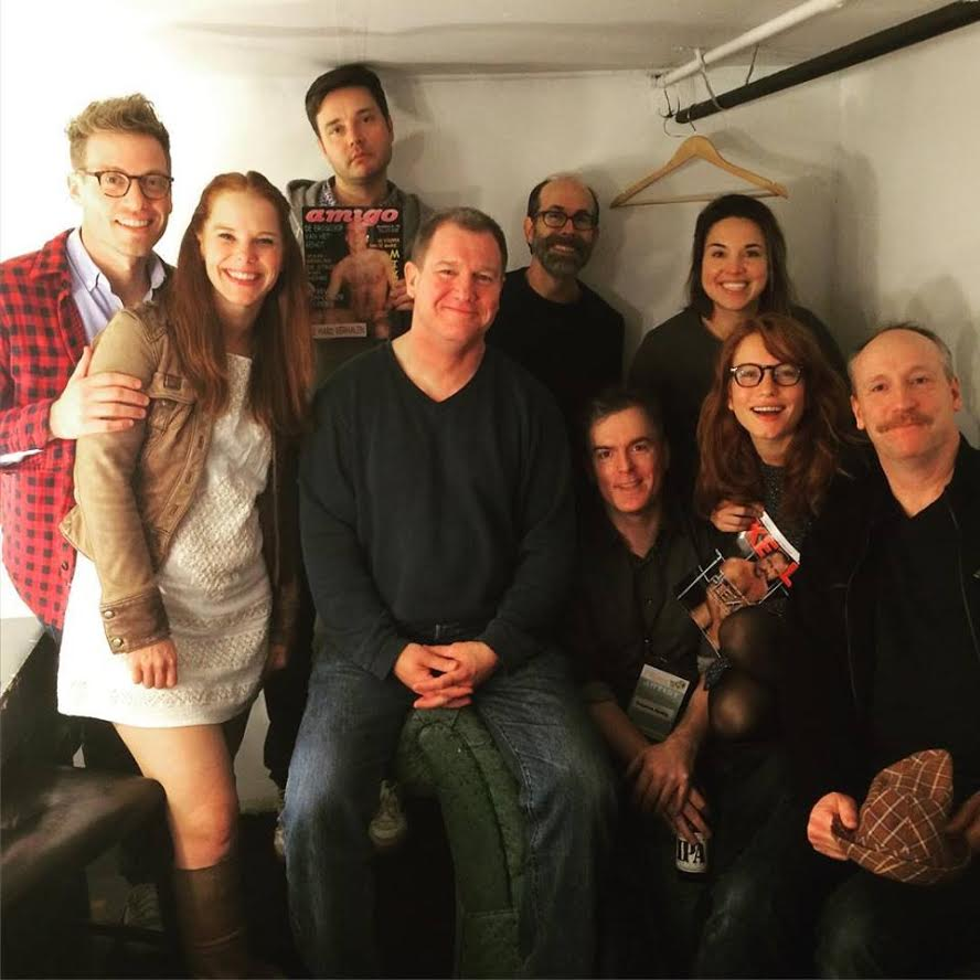 Julie with the cast of Gravid Water at San Francisco Sketchfest