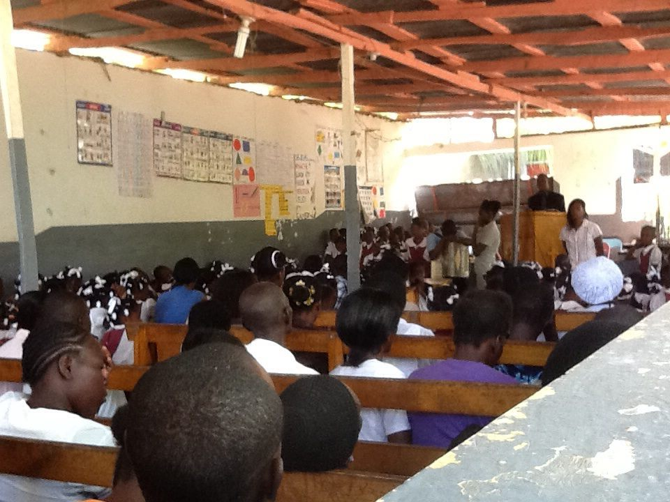 Church service at MADO in Ouanaminthe.