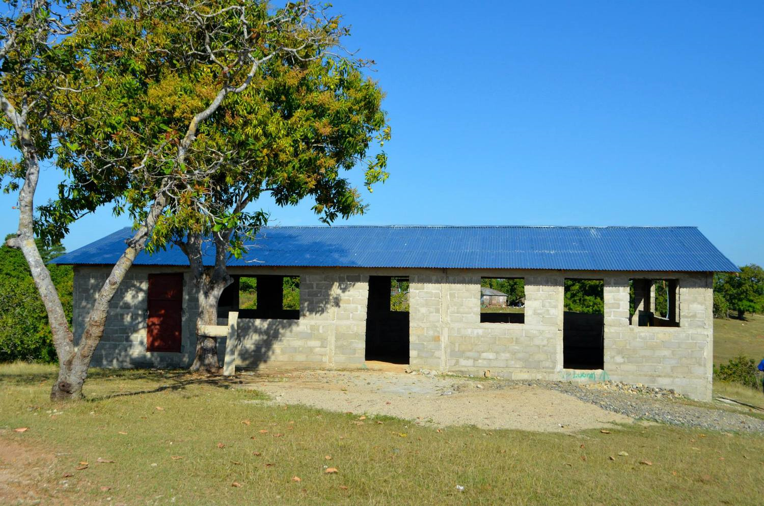 Building at Baja. Constructed Winter 2014. Ope for holding worship services.