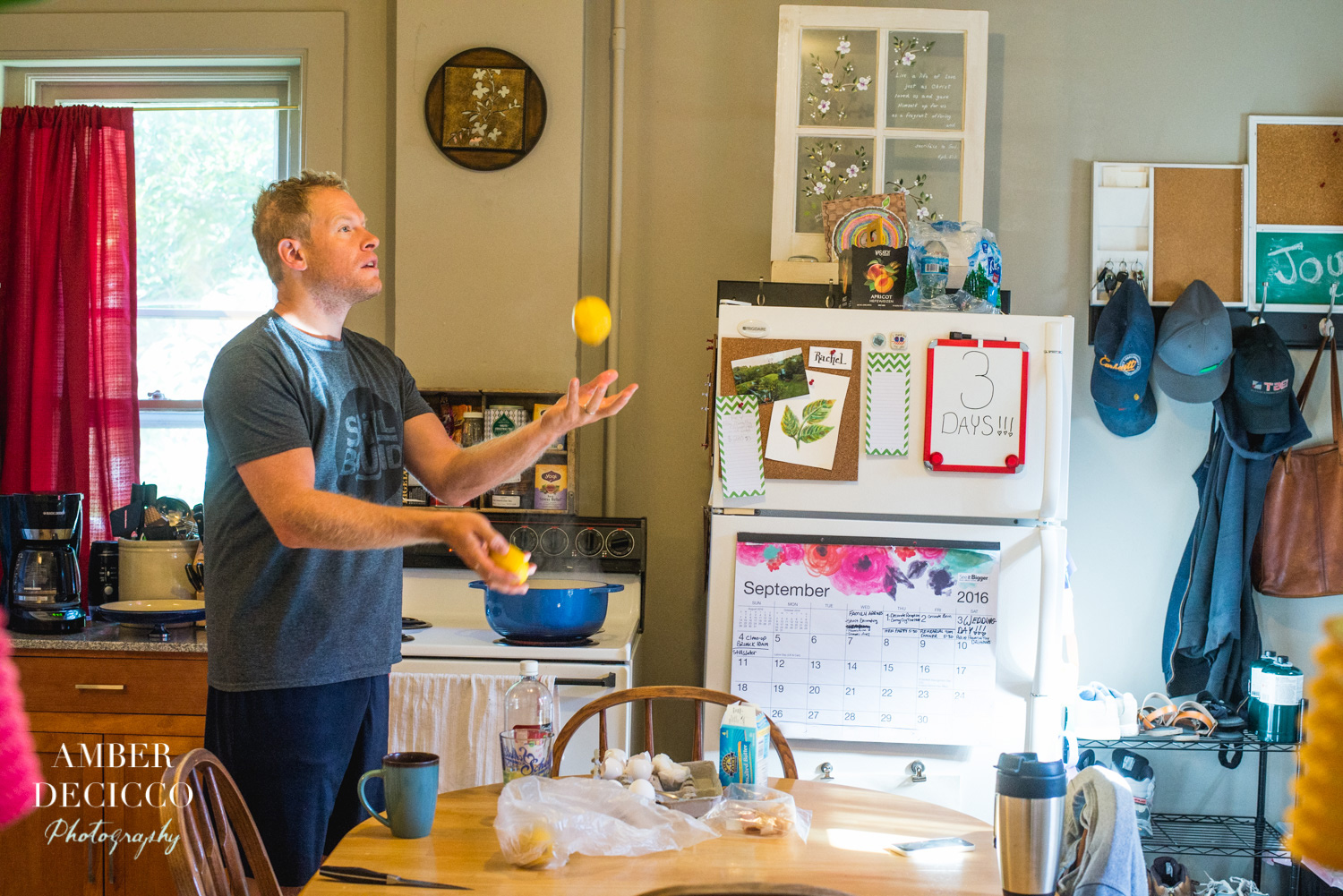 Brian making breakfast for Rachel and Danny :)