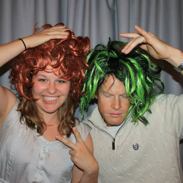 While we were dating, Brian became one of my backup photographers and assistants. Here's one silly photo we had taken of us at the photobooth of a wedding we were photographing together. It makes me laugh every time I see it!
