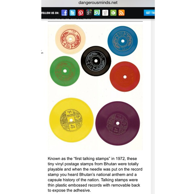 Where the worlds of vinyl collectors and stamp collectors converge