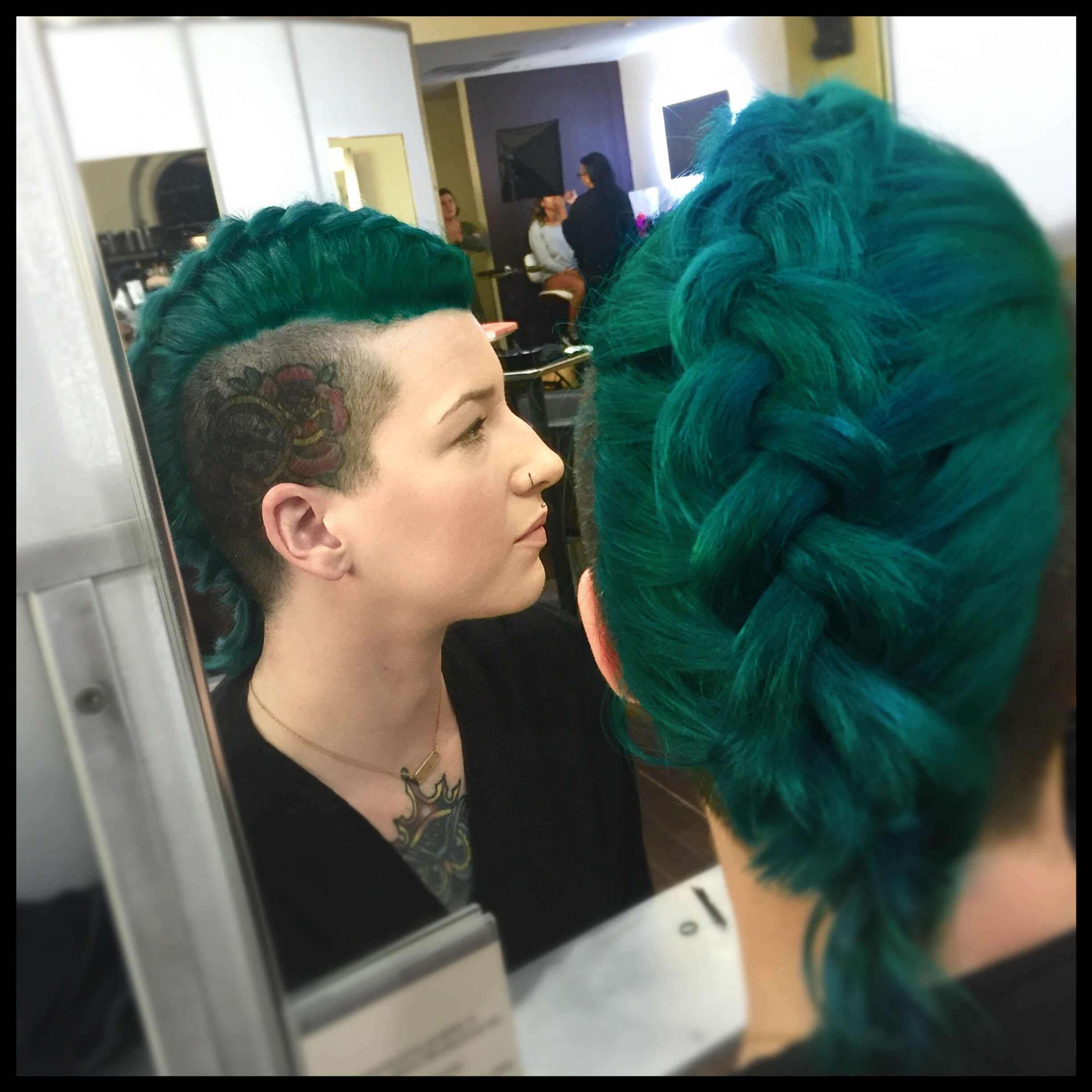 I looooooooooove this green on my girl Amanda.  Nothing fancy, just straight Pravana green.