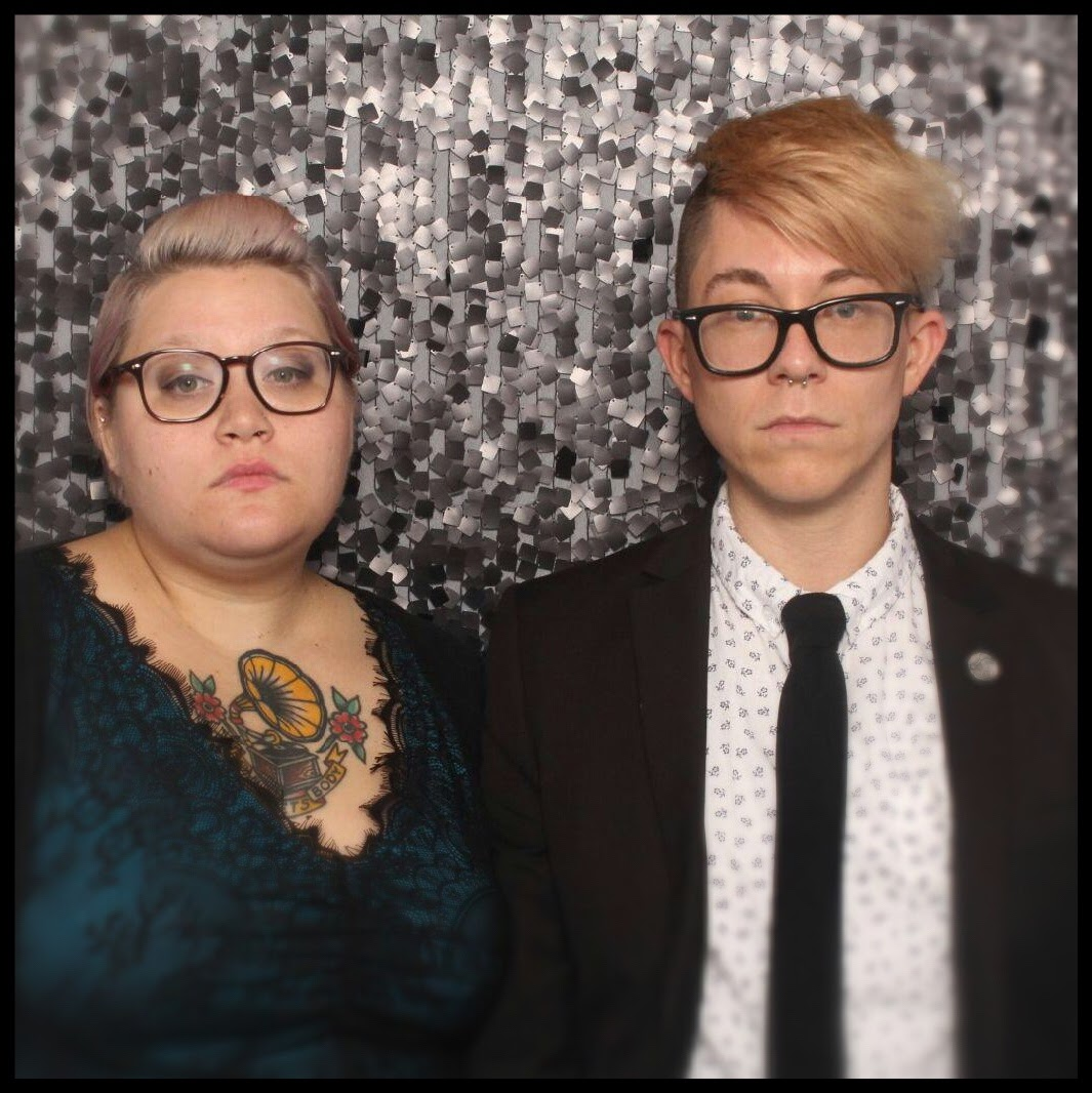 I love this picture of my friend Amber and me from a recent (and awesome) wedding.