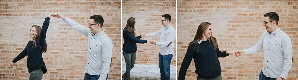 Woodstock Engagement Session - Winter Engagement Session - Liller Photo - Milwaukee Wedding Photographers