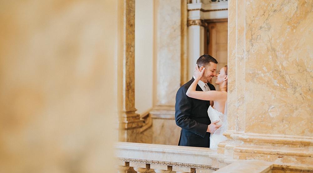Intercontinental Milwaukee Wedding - Milwaukee Winter Wedding - Liller Photo - Milwaukee Wedding Photographers - Milwaukee Public Library