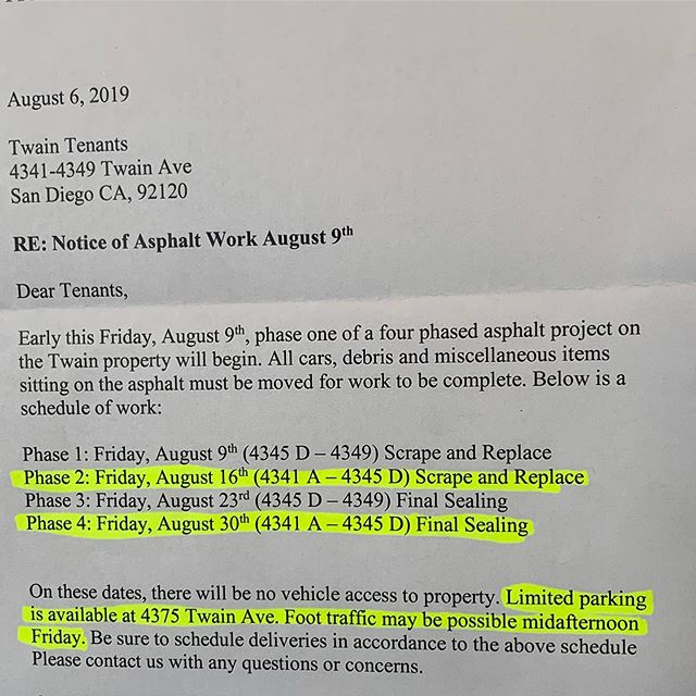 A friendly heads up/reminder to our fellow members that parking will be limited on both Fridays 8/16 & 8/30. Please refer to this letter and maps for the details, which are also located in our facility for your situational awareness. We apologize for the inconvenience and thank you all for being a part of our strength family. Stay motivated and continue to do what you do best 💪