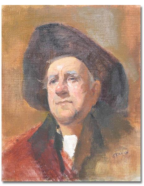 Cowboy ,11 x 14 // Oil on canvas ,  AVAILABLE