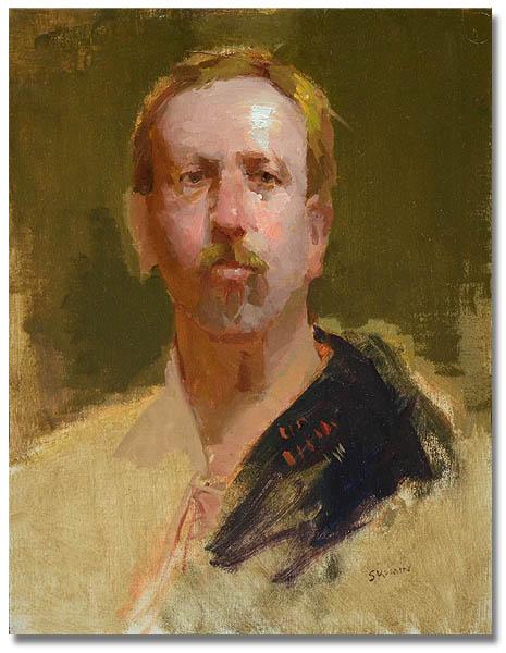 Portrait o fa Man, 11 x 14 / Oil on canvas,  AVAILABE