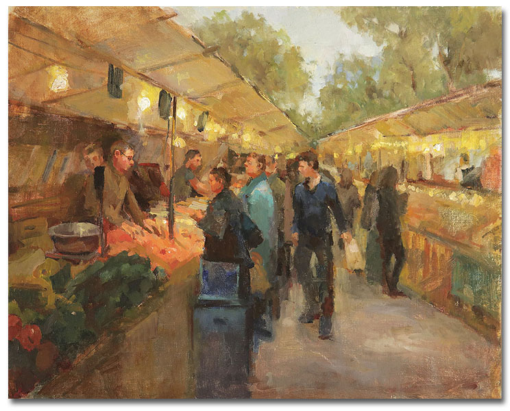 Farmers Market,16 x 20 / Oil on canvas, Sold