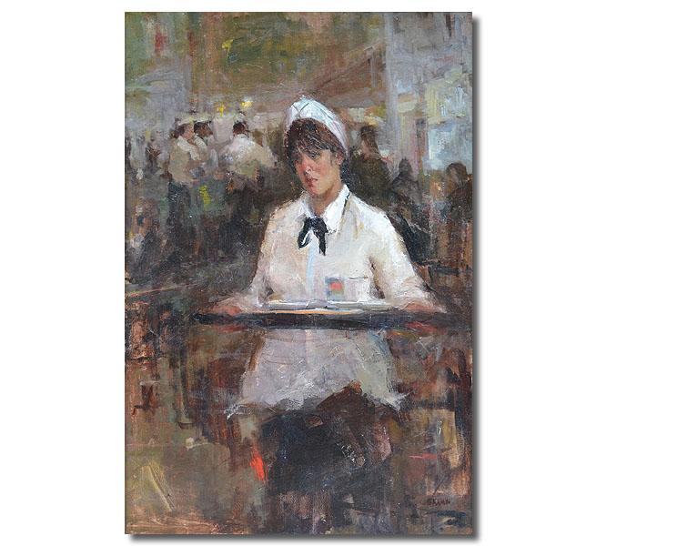 The Waitress,36 x 24 / Oil on canvas,  AVAILABLE