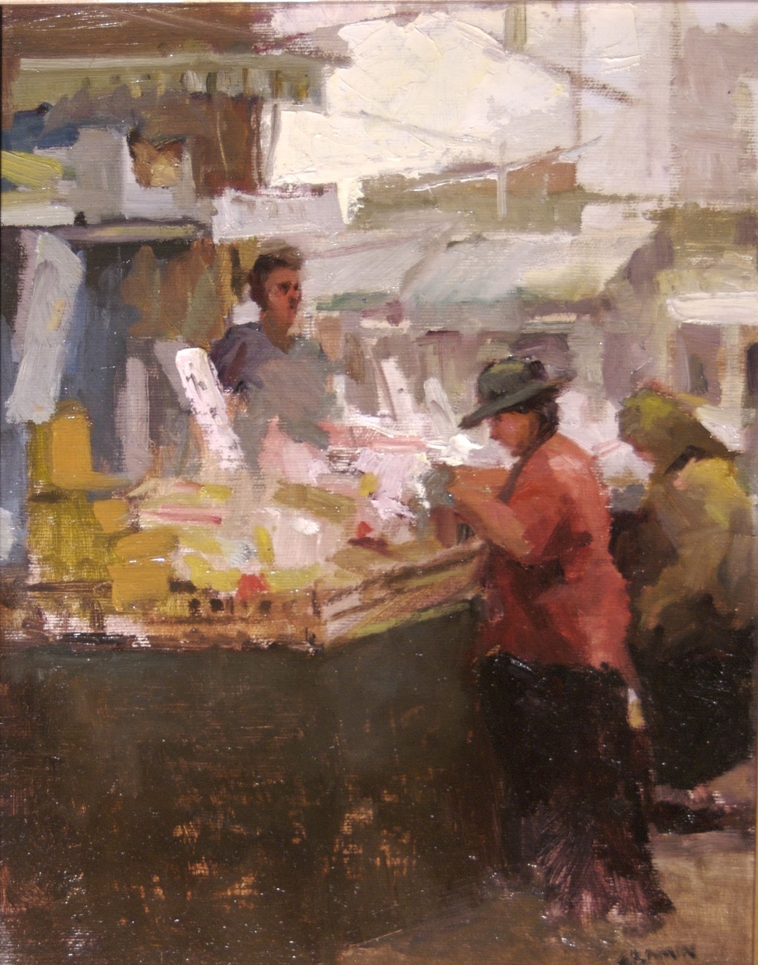 ISREAL MARKET 11x14 ,  Available