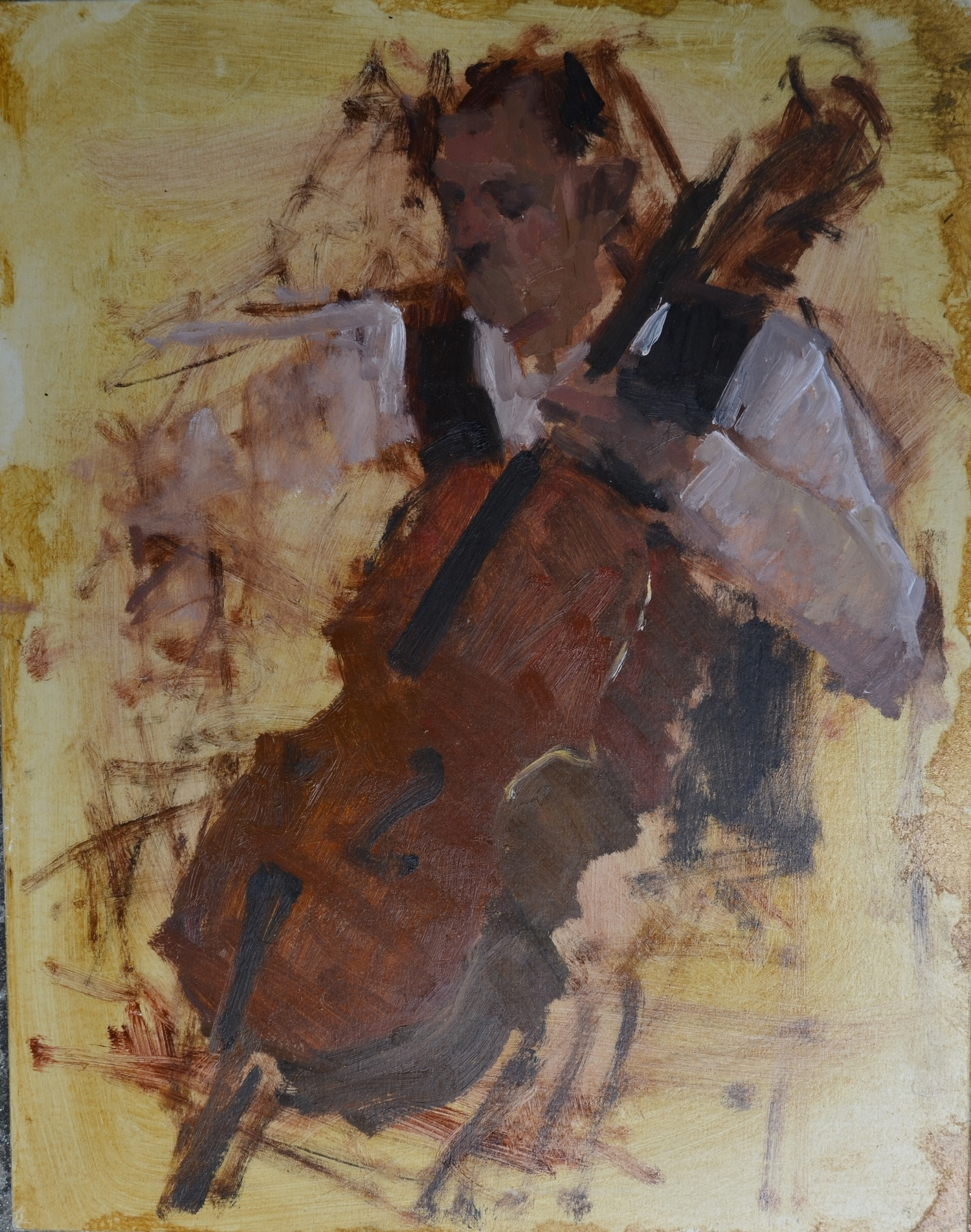 Study Of Cello Player,  AVAILABLE