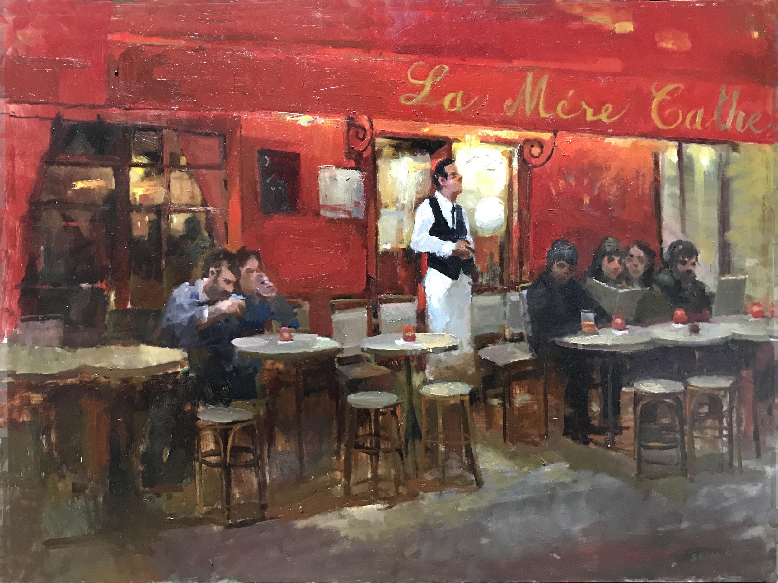 Red Cafe at Dusk
