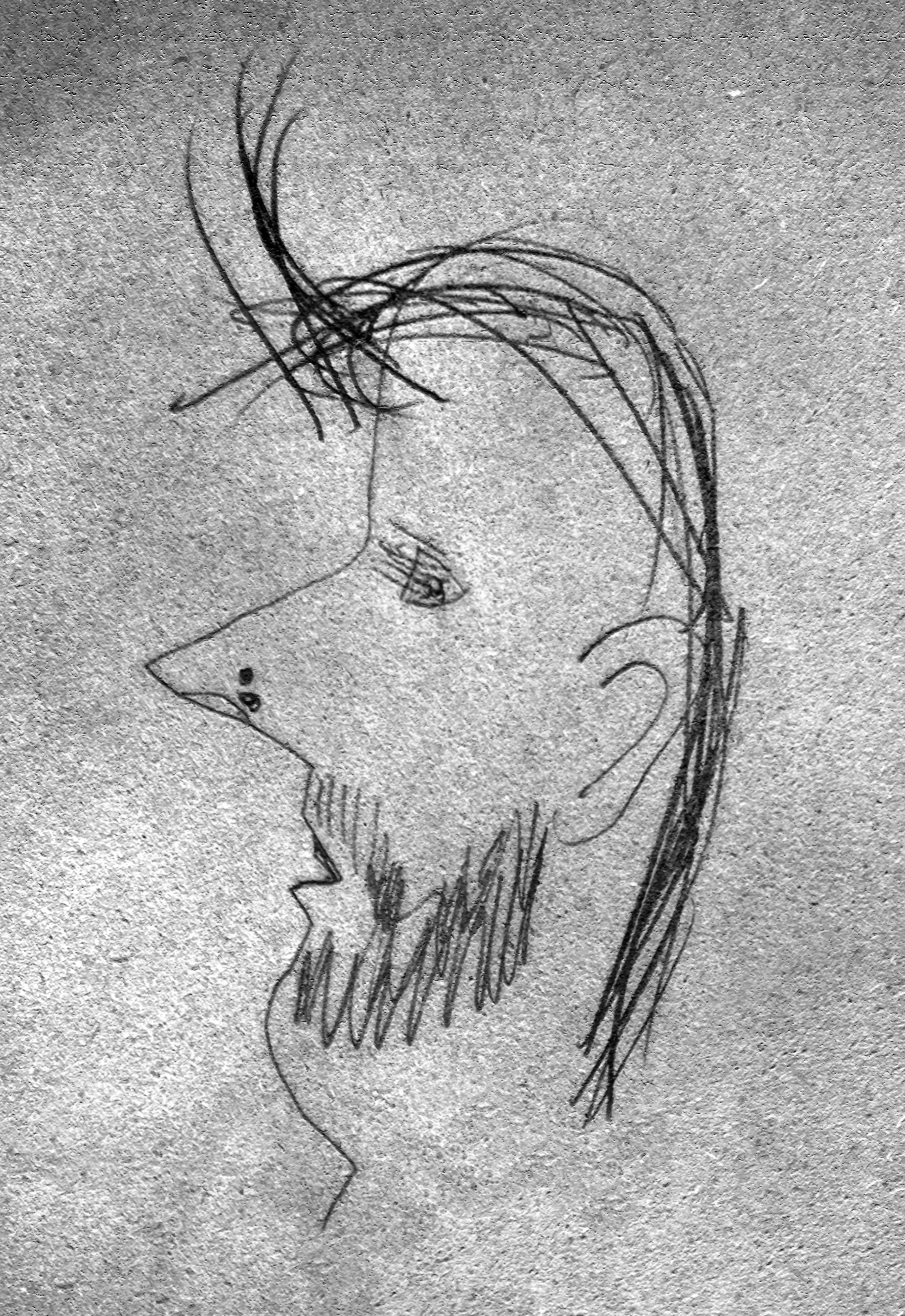 Julia's sketch of me.