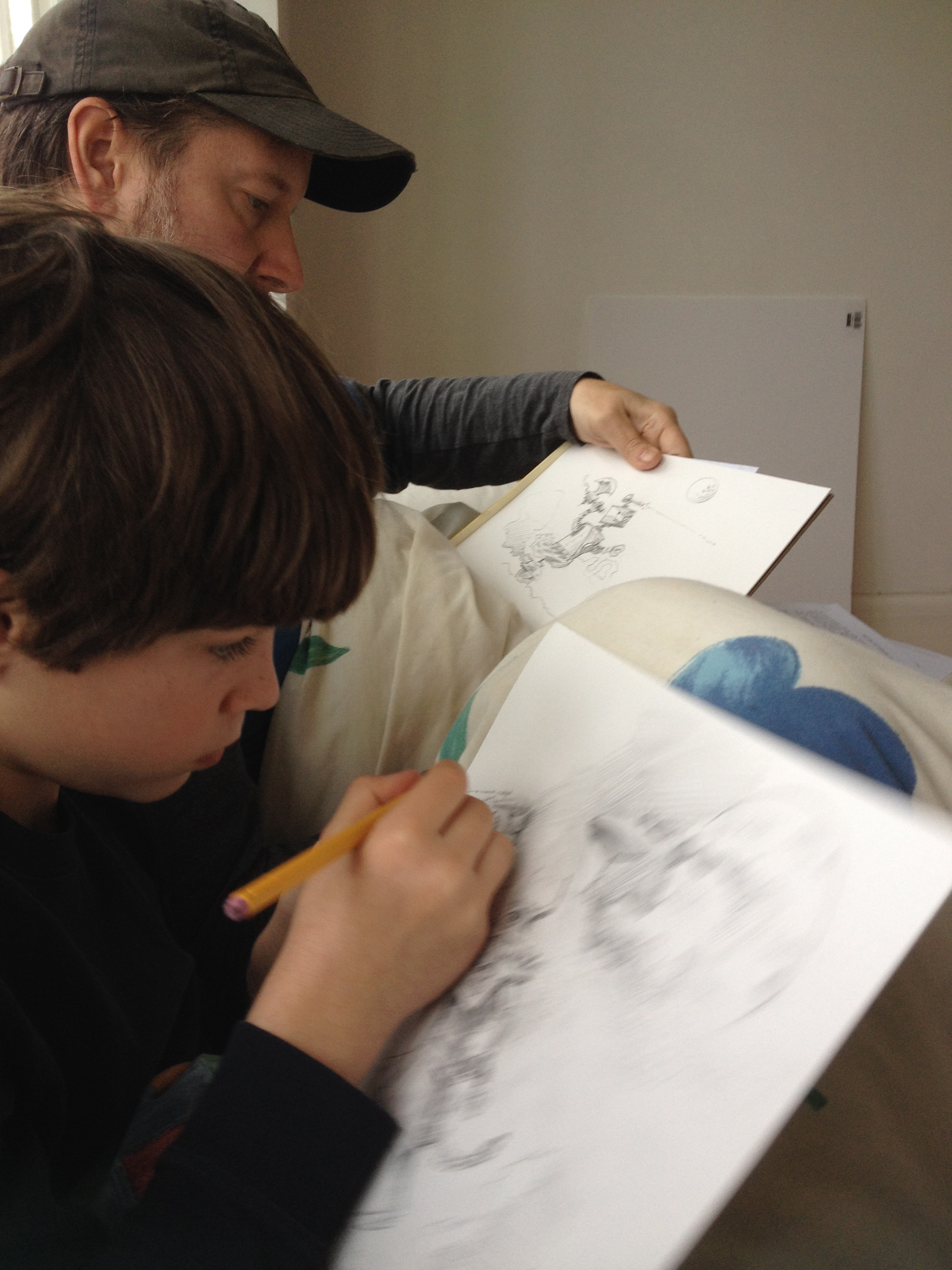 Drawing with the imaginative Spencer Robinson.