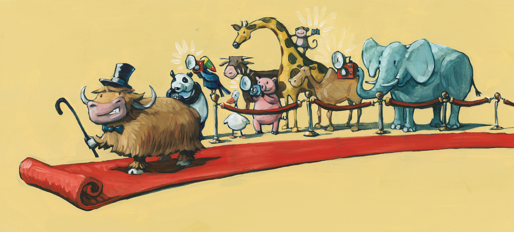 """Red Carpet  13"""" wide. Oil on illustration board, 2011.  $100  .  Buy this painting."""