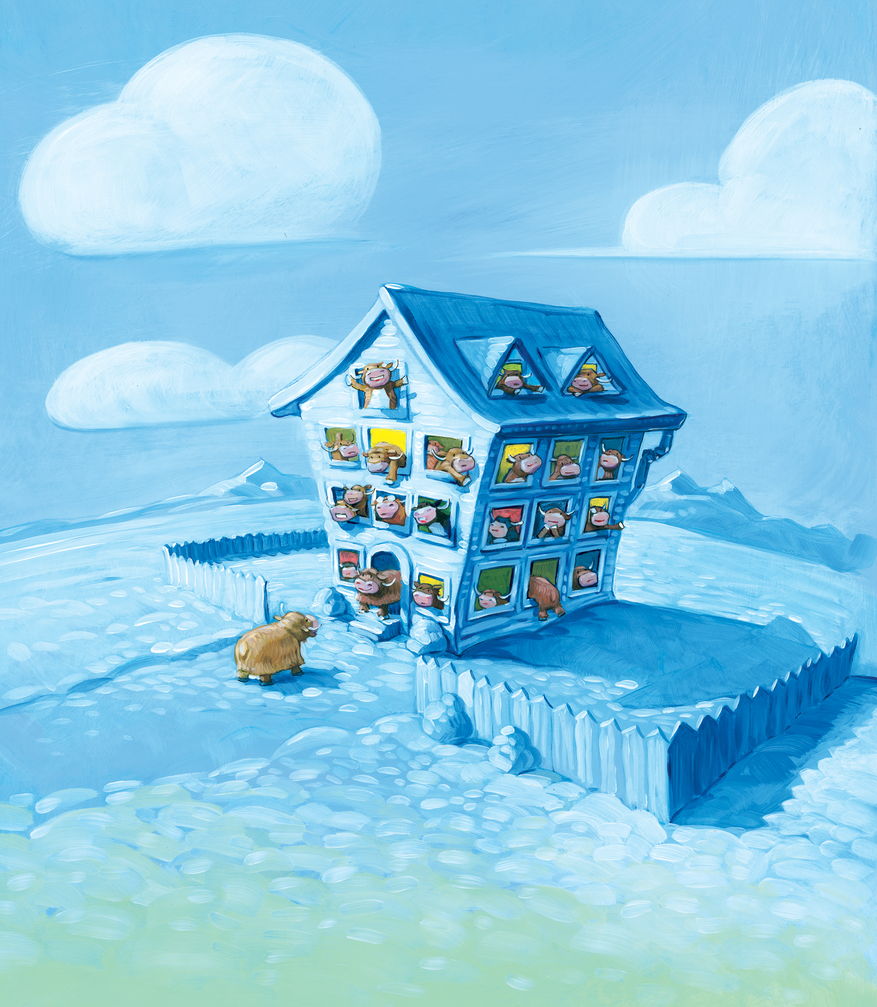"""Ice House   11"""" wide. Oil on illustration board, 2011.  $400  .  Buy this painting."""