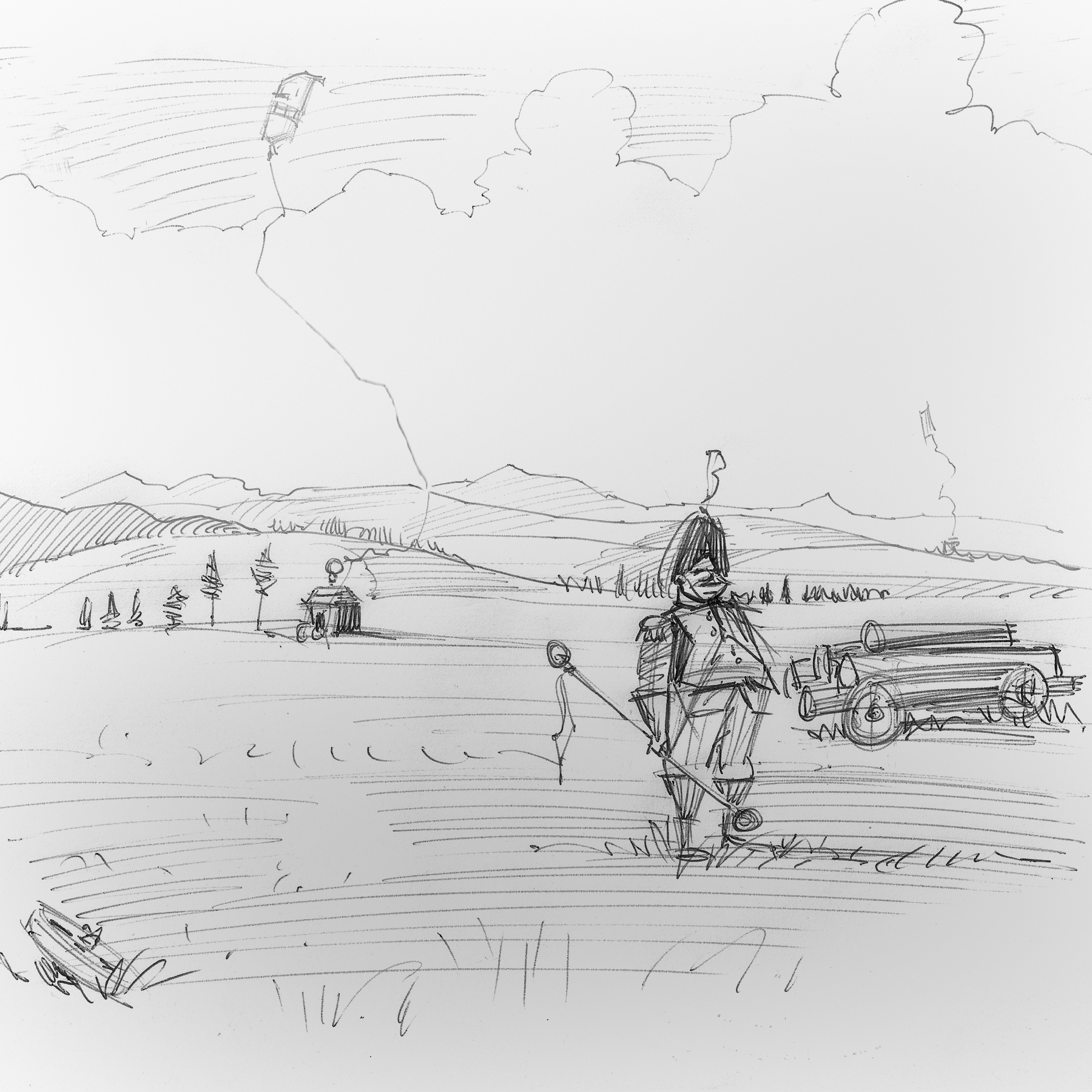 Sketch for   The Field Marshal,   another commissioned painting.