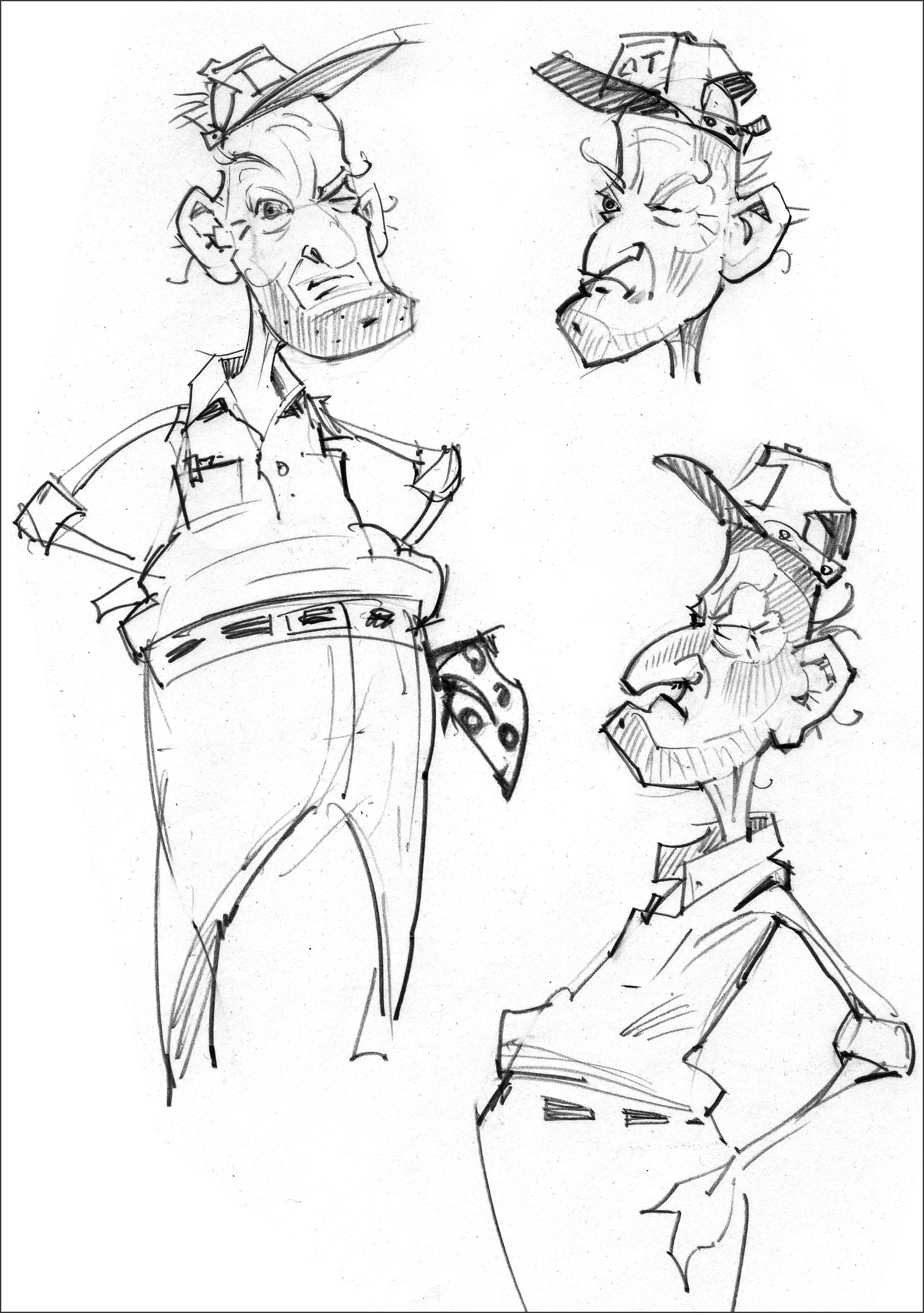 Character studies for Old MacDonald.