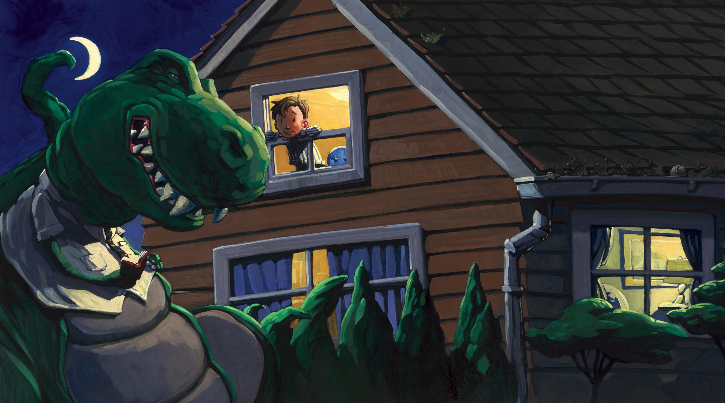 Bedtime Story   • Oil on illustration board