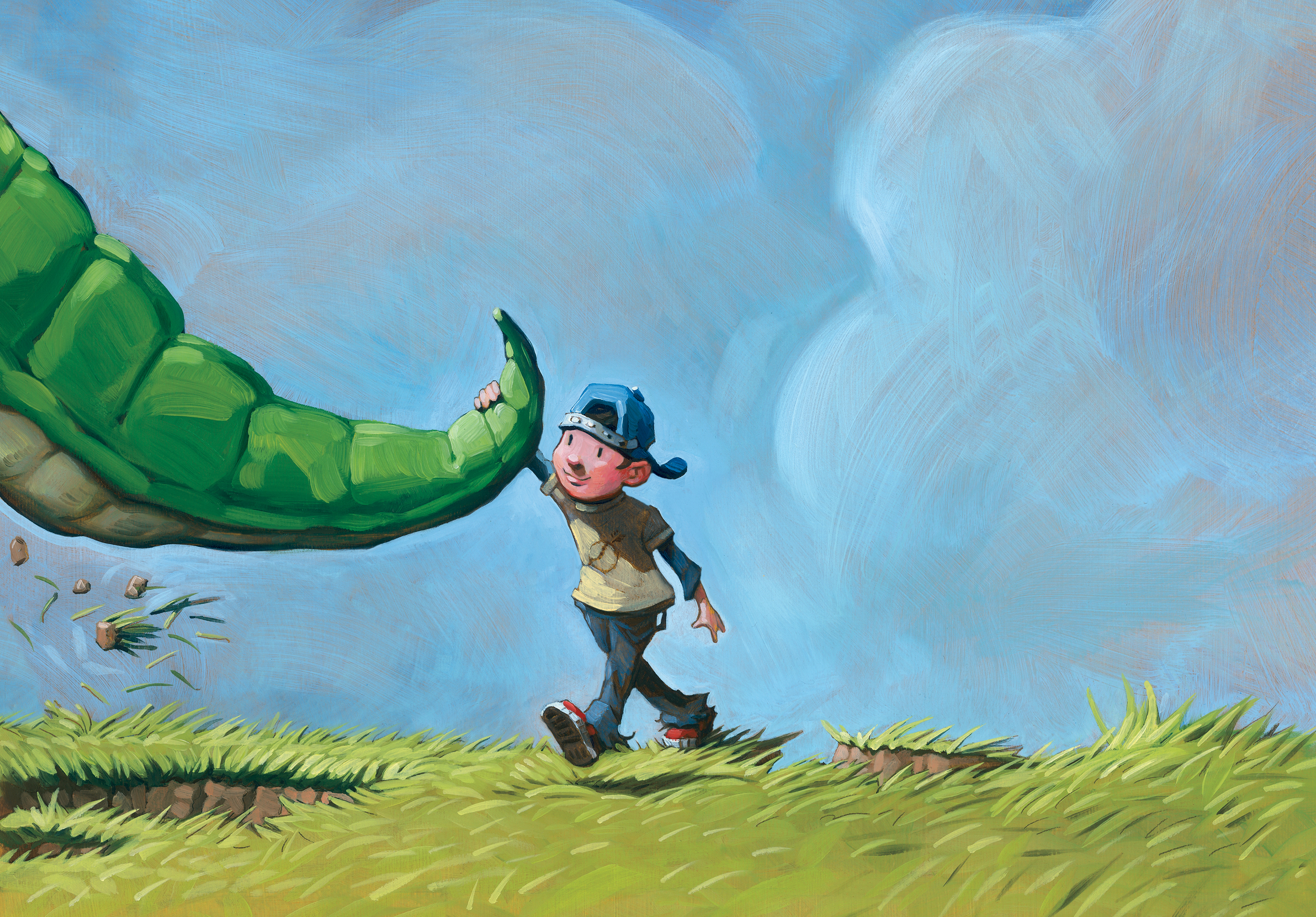 Walking Home   • Oil on illustration board