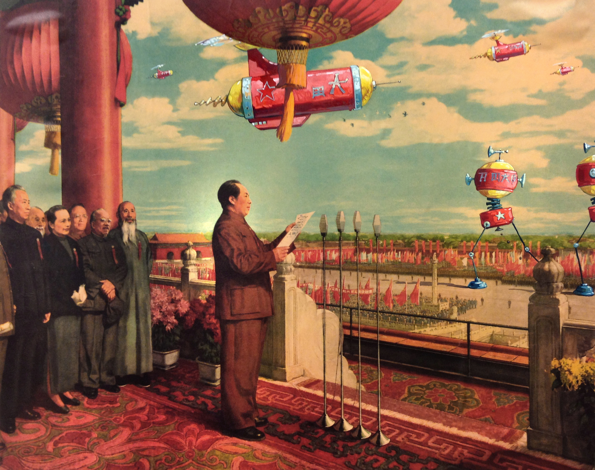 Mao's Vision   • Oil on an existing print
