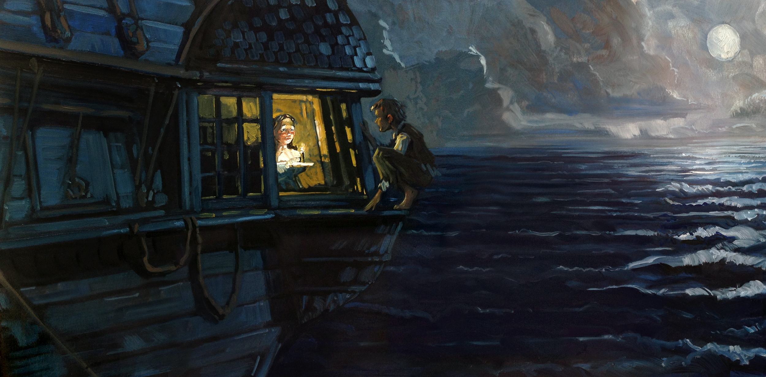 The Visitor   • Peter Pan visits a girl in her cabin.